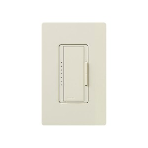 Maestro - Fluorescent Dimmer - 3 Wire - Digital Fade - Two Loads - Light Almond - 120V - 6A - Wall Plate Sold Separately