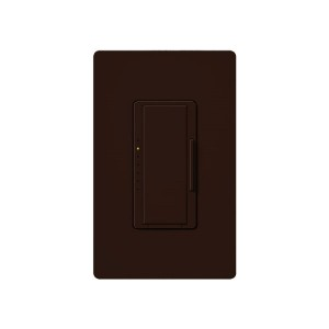 Maestro - Fluorescent Dimmer - 3 Wire - Digital Fade - Two Loads - Brown - 120V - 6A - Wall Plate Sold Separately