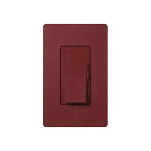 LED / CFL Dimmer - Paddle Switch - Merlot - 120V - 600W Max. - Satin Finsh - Wall Plate Sold Separately