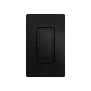 Maestro - Fluorescent Dimmer - 3 Wire - Digital Fade - Two Loads - Midnight - 120V - 6A - Wall Plate Sold Separately