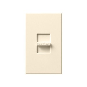 Nova T - 3-Wire Flourescent - Slide-to-Off Dimmer - Ivory - 120V - 16A - Wall Plate Included