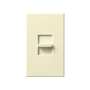 Nova T - 3-Wire Flourescent - Slide-to-Off Dimmer - Almond - 120V - 16A - Wall Plate Included