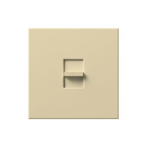 Nova T - Incandescent / Halogen - Slide to Off Dimmer - Ivory - 120V - 1920W - Wall plate Included