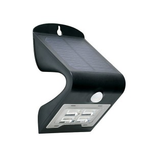 Solar Downwash Wall Pack Light - 3.2W - 3000K Warm White - 5-6 Hrs/Day Charging Time