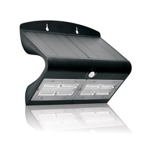 Solar Downwash Wall Pack Light - 6.8W - 3000K Warm White - 5-6 Hrs/Day Charging Time