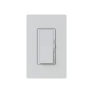Fluorescent Dimmer - Dimming with Hi-lume® and Eco-10TM (ECO-Series) - Paddle Switch - Palladium - 120V - 8A - Matte Finish - Wall Plate Sold Separately