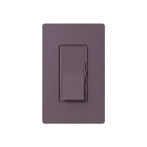 LED / CFL Dimmer - Paddle Switch - Plum - 120V - 600W Max. - Satin Finsh - Wall Plate Sold Separately