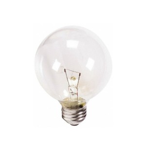 Decorative Bulb - G25 - 40W - E26 Base - White - 130V AC - 25 Packs