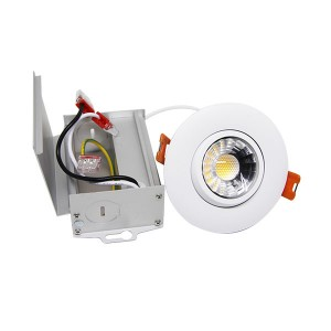 LED Gimbal Slim Panel - White - 8W - 3 inch - 3000K Warm White - 120V AC