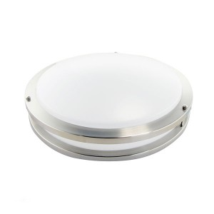 LED Flush Mount Ceiling Fixture (Drum Fixture) - 24W - 3000K Warm White - 16 inch - Dimmable - 100-277V AC