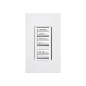 Radio RA2 - Hybrid keypad - 4 Scene - W/ Raise/Lower Keypad - 120V - 450W Max. - White