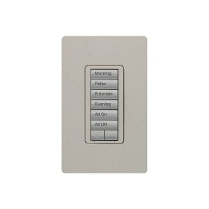 Radio RA2 - Hybrid keypad - 6 Button - W/ Raise/Lower Keypad - 120V - 450W Max. - Stone