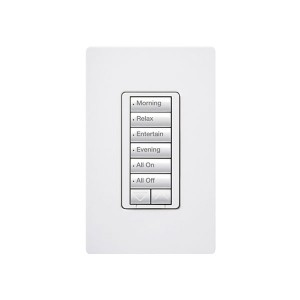 Radio RA2 - Hybrid keypad - 6 Button - W/ Raise/Lower Keypad - 120V - 450W Max. - White