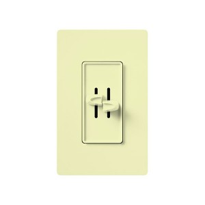 Skylark - Incandescent/ Halogen - Dual Slide to Off Dimmers (Two Loads) - 120V - 300W - Almond - Wall plates not Included