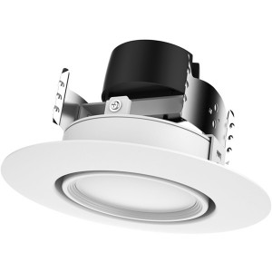LED Gimbal Recessed Downlight - 9W - Dimmable - 2700K Soft White - 4 inch - 120V AC