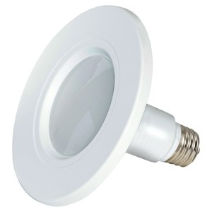 "LED Downlight Retrofit - 8.5W - Dimmable - 2700K Soft White - 4"" Trim - 120V AC"
