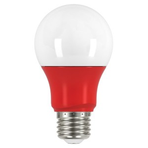 LED A19 - 2W - Non-Dimmable - Red When Lit - 120V AC - 15,000 hrs lifespan - 4 Packs