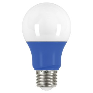 LED A19 - 2W - Non-Dimmable - Blue - When Lit - 120V AC - 15,000 hrs lifespan - 4 Packs
