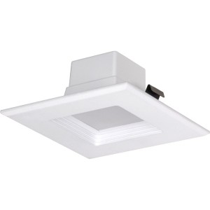 "LED Square Recessed Downlight Retrofit - 10W - Dimmable - 3000K Warm White - 4"" Trim - 120V AC"