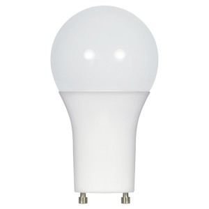 LED A19 GU24 Base - 9.5W - Dimmable - 3500K Warm White - 120V AC - 25,000 hrs lifespan