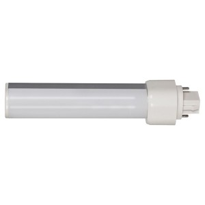 LED PL Bulb - 2-pin G24d base - 9W - 5000K Cool White - Horizontal - 120-277V AC