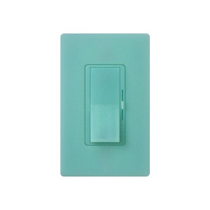LED / CFL Dimmer - Paddle Switch - Sea Glass - 120V - 600W Max. - Satin Finsh - Wall Plate Sold Separately
