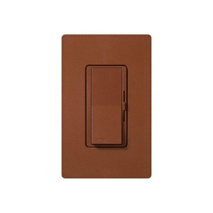 Electronic Low Voltage Dimmer - Paddle Switch - Sienna - 120V - 300W Max. - Stain Finish - Wall Plate Sold Separately
