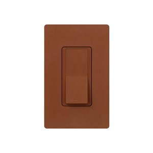 General Purpose Switches - Paddle Switch - Sienna - 120V-277V - 15A - Stain Finish - Wall Plate Sold Separately