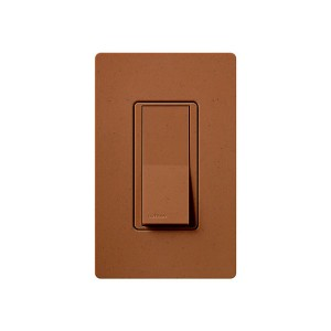 General Purpose Switches - Paddle Switch - Terracotta - 120V-277V - 15A - Stain Finish - Wall Plate Sold Separately