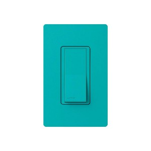 General Purpose Switches - Paddle Switch - Turquoise - 120V-277V - 15A - Stain Finish - Wall Plate Sold Separately