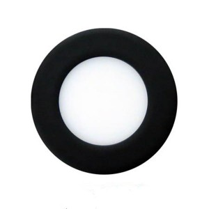 LED Round Ultrathin Slim Panel - Black- 33W - 8 inch - 3000K Warm White - 120V AC