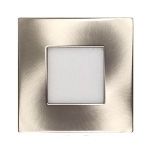 LED Square Ultrathin Slim Panel - Brushed Nickel- 9W - 4 inch - 3000K Warm White - 120V AC