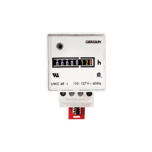 Meters - Hour Meters - Grässlin AC Hour Meter - Surface Mount - Combo Quick Connect & Screw Terminals - 120V - 60Hz