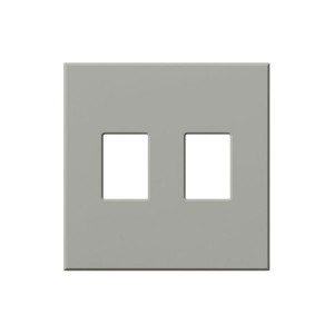 Vareo - Wallplates - For Vareo® and Nova Tb® Dimmers - and Architectural accessories - 2-Gang - Grey