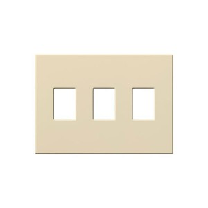 Vareo - Wallplates - For Dimmers - and Architectural accessories  - 3-Gang - Ivory