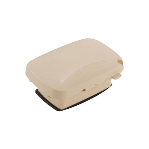 Outlet Cover - Weatherproof - Plastic & Extra-Duty Plastic Cover - Single Gang - 120V - Beige - 2.25''Depth