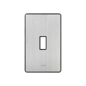 Fassada Wall Plate - 1-Gang - Stainless Steel