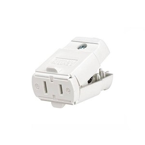 Connector - Residential Grade - Straight Blade - 15A - 125V - NEMA 1-15R - 2-Pole - Polarized - Non-Grounding - White