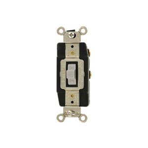 Connector - Industrial Grade - Toggle Style - 3A - 24V AC/DC - Grounding - Back & Side Wired - Single-Pole - Grey