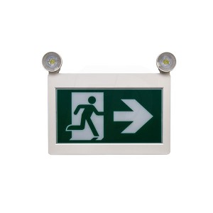 LED Running Man Exit Sign Combo - 120/347V - Thermoplastic - Single & Double Sided - Remote Capability - Battery Back Up