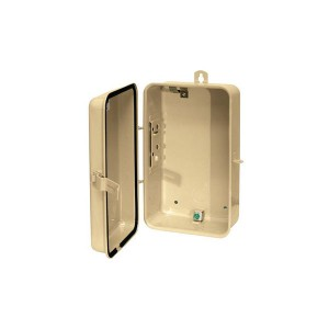 Timer Controls - Enclosures - Case-Outdoor - Type 3R - Metal - Beige