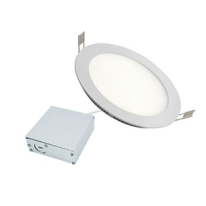 LED Slim Panel Recessed Light - White - 11W - 6 inch - 3000K Warm White - 120V AC