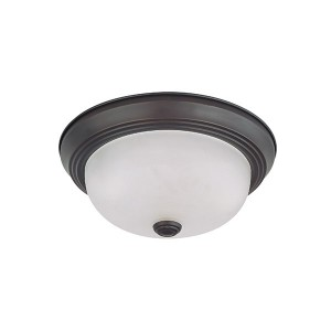 LED 2 Light Flush Mount Fixture - 13 Inch - 10.5W - 3000K Warm White - Dimmable - 120V AC