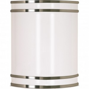 LED Glamour Venity Fixture - Brushed Nickel - 10W - 3000K Warm White - Dimmable - 120V AC
