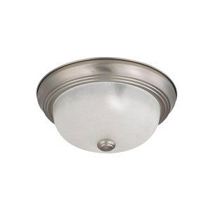 LED 2 Light Flush Mount Fixture - 11 Inch - 10.5W - 3000K Warm White - Dimmable - 120V AC