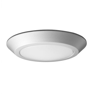 LED Flush Disk Light - 10.5W - 3000K Warm White - Brushed Nickel - 7 inch - Dimmable - 120V AC