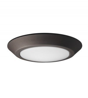LED Flush Disk Light - Mahogany Bronze - 12W - 3000K Warm White- 10 inch - Dimmable - 120V AC