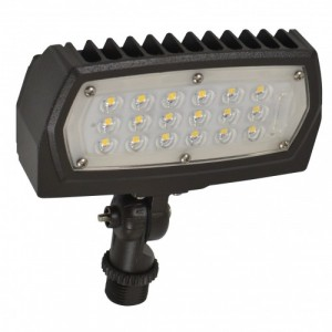 LED Flood Light - 12W - 3000K Warm White - 120-277V AC