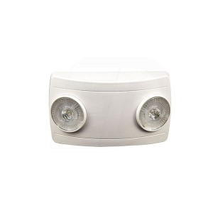 LED Dual Remote Head Emergency Fixture - 1W - 120-277V - Thermoplastic