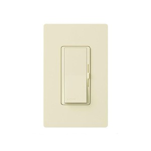 Magnetic Low Voltage Dimmer - Paddle Switch - Almond - 120V - 800W Max. - Gloss Finish - Wall Plate Sold Separately